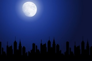 9119-a-night-cityscape-silhouette-with-the-moon-pv